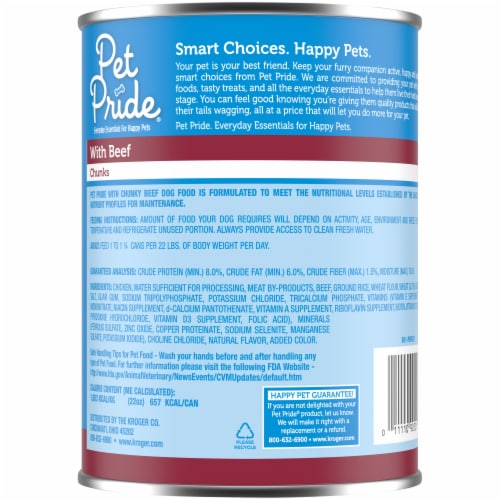 Pet Pride® Chunks with Beef Wet Adult Dog Food Perspective: back