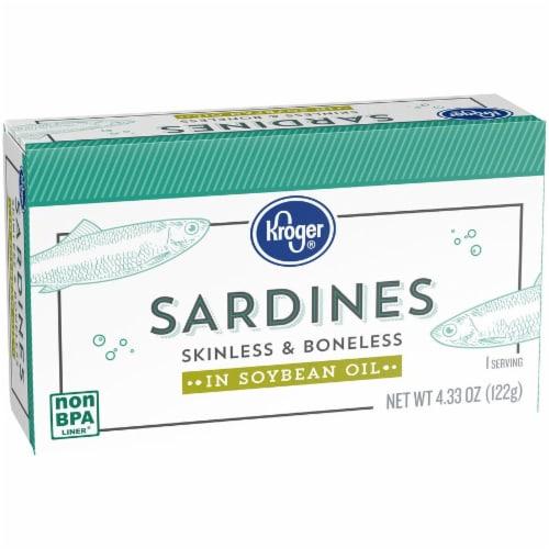Kroger® Skinless & Boneless Sardines in Soybean Oil Perspective: back