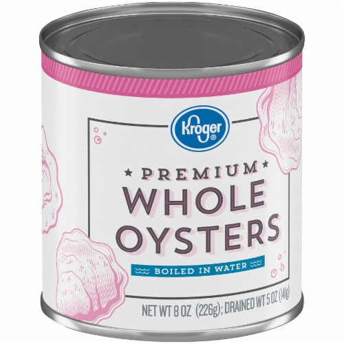 Kroger® Premium Whole Oysters Boiled in Water Perspective: back