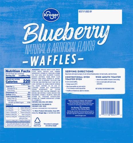 Kroger® Blueberry Waffles Perspective: back