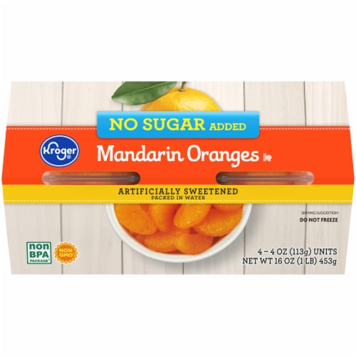 Kroger® No Sugar Added Mandarin Oranges Bowls Perspective: back