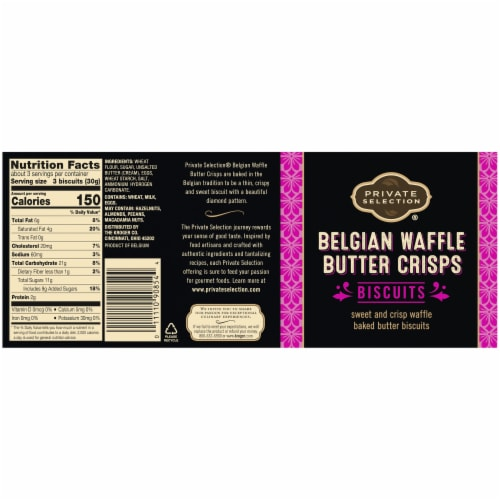 Private Selection® Belgian Waffle Butter Crisps Biscuits Perspective: back