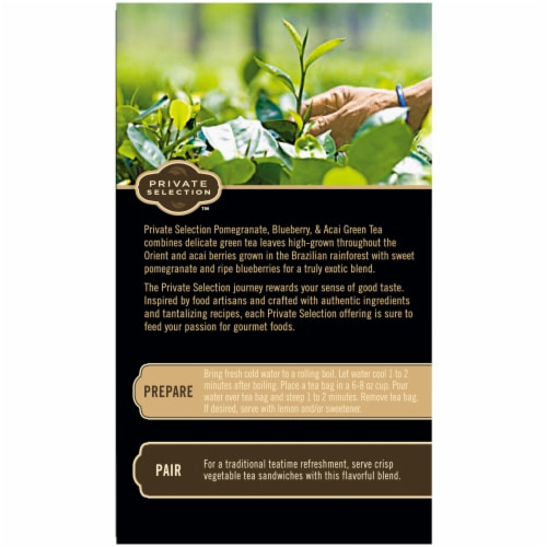 Private Selection™ Pomegranate Blueberry & Acai Green Tea Bags Perspective: back