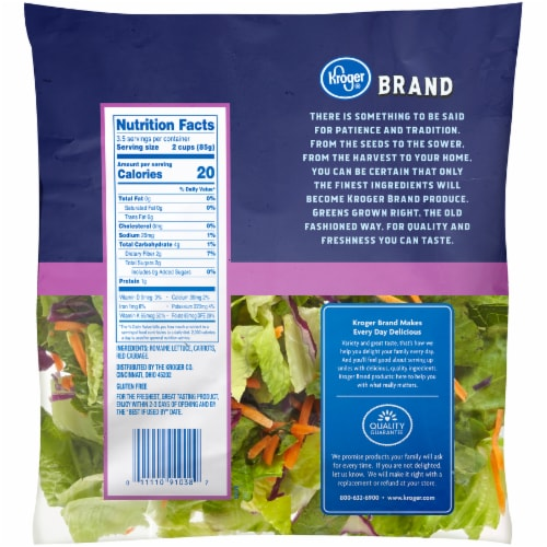 Kroger® Romaine Blend Salad Perspective: back