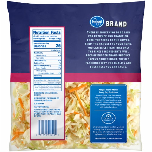 Kroger® Coleslaw Mix Perspective: back