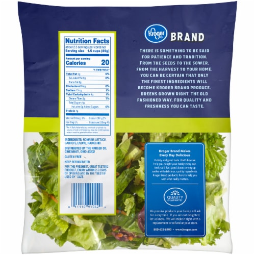 Kroger® Field Greens Salad Mix Perspective: back