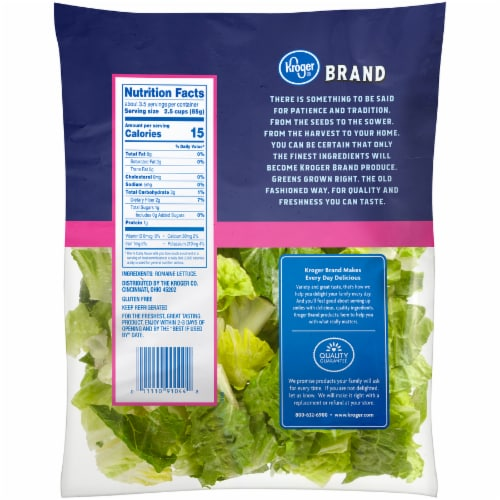 Kroger® Hearts of Romaine Salad Perspective: back