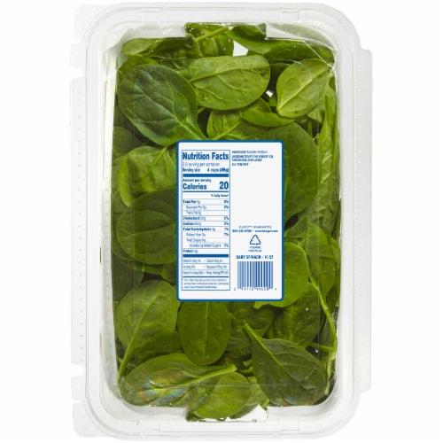Kroger® Baby Spinach Perspective: back