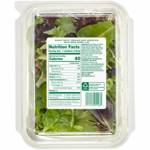 Simple Truth Organic™ Baby Spring Mix Perspective: back