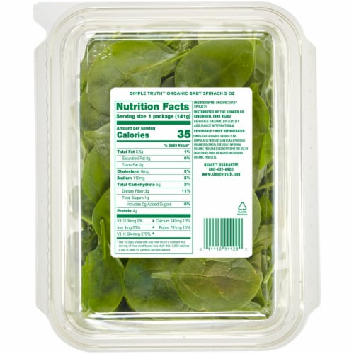 Simple Truth Organic™ Baby Spinach Perspective: back