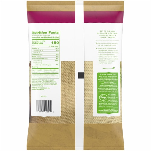 Simple Truth® Exotic Vegetable Chips Perspective: back