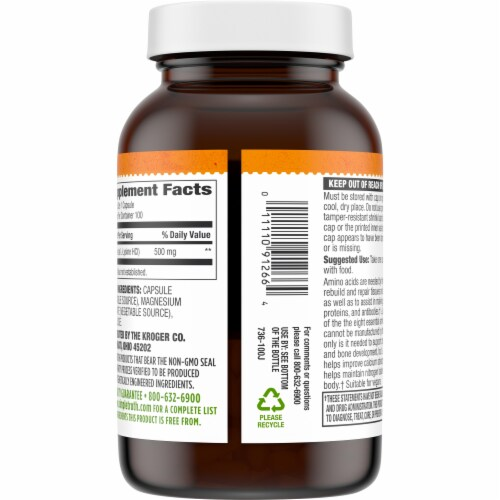Simple Truth® L-Lysine Capsules 500mg Perspective: back
