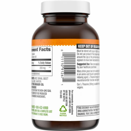 Simple Truth® L-Theanine Capsules 200mg Perspective: back