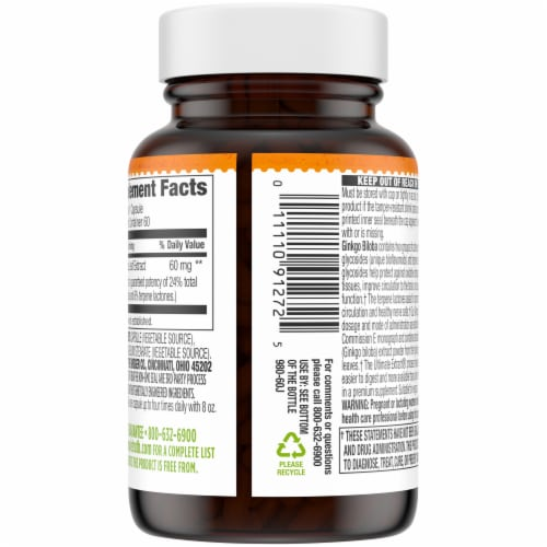 Simple Truth® Ginkgo Biloba Capsules 60mg Perspective: back