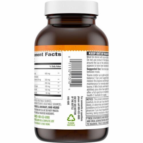 Simple Truth™ Plant Based Liver Support Complex Capsules Perspective: back