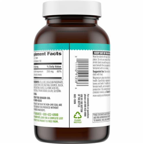 Simple Truth® Chelated Magnesium Tablets 250mg Perspective: back