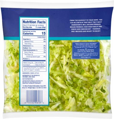 Kroger® Shredded Iceberg Lettuce Perspective: back