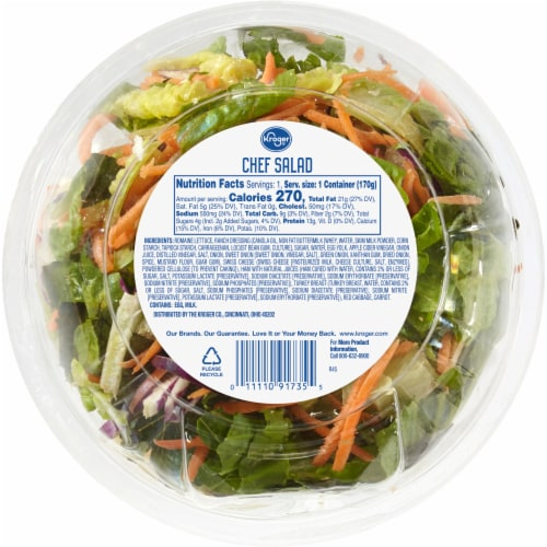 Kroger® Chef Salad Kit for One Perspective: back