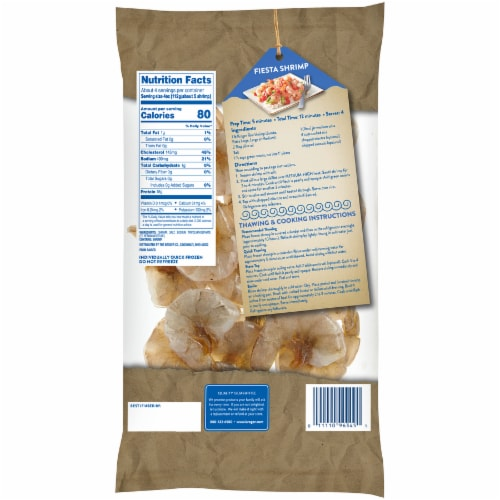Kroger Shell-On Easy Peel Jumbo Raw Shrimp Perspective: back