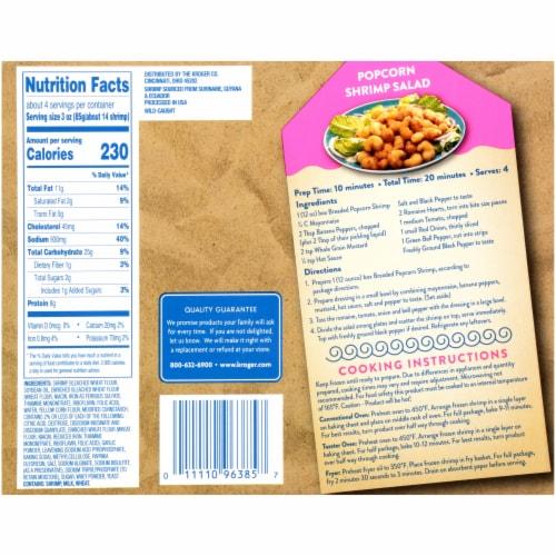 Kroger® Wild Caught Crunchy Popcorn Shrimp Perspective: back