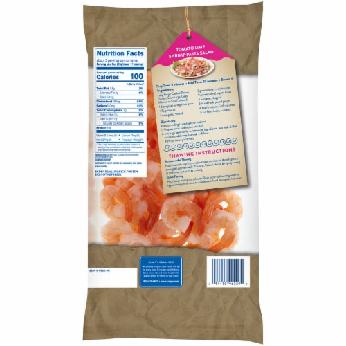 Kroger® Tail-On Peeled & Deveined Medium Cooked Shrimp Perspective: back