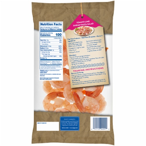 Kroger® Tail-On Peeled & Deveined Extra Large Cooked Shrimp Perspective: back