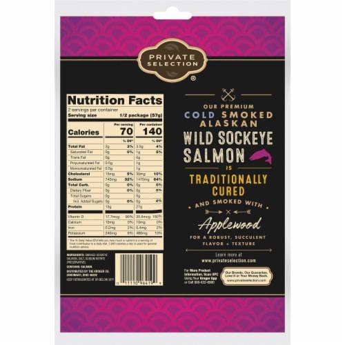 Private Selection® Traditional Cold Smoked Alaskan Wild Sockeye Salmon Perspective: back