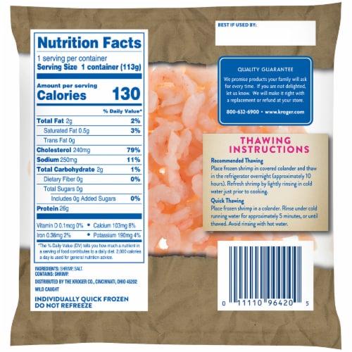 Kroger® Wild Caught Cooked & Peeled Salad Shrimp Perspective: back