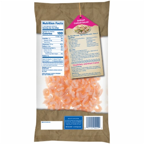 Kroger Wild Caught Cooked & Peeled Salad Shrimp Perspective: back