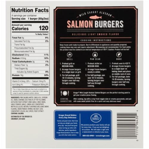 Kroger® Salmon Burgers Perspective: back