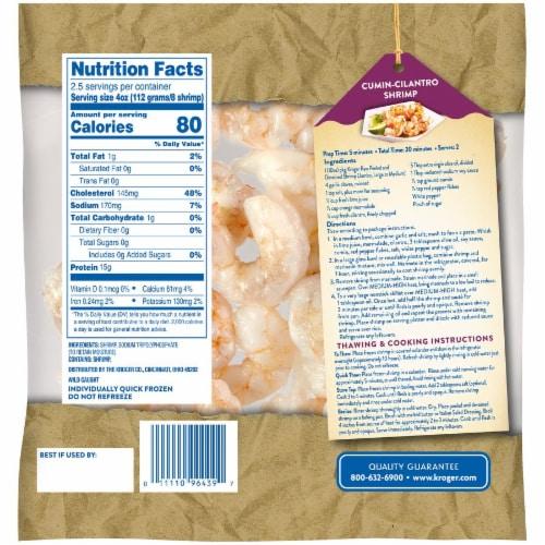 Kroger® Peeled & Deveined Large Raw Shrimp Perspective: back