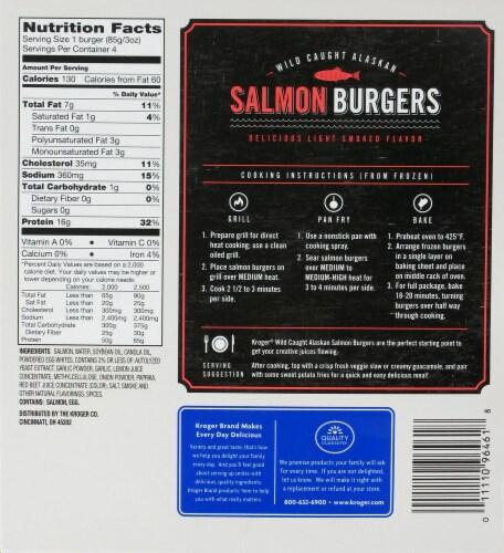 Kroger® Salmon Burger Perspective: back