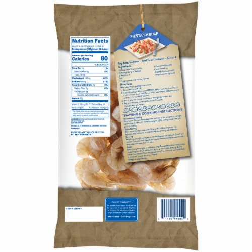 Kroger Shell-On Easy Peel Medium Raw Shrimp Perspective: back