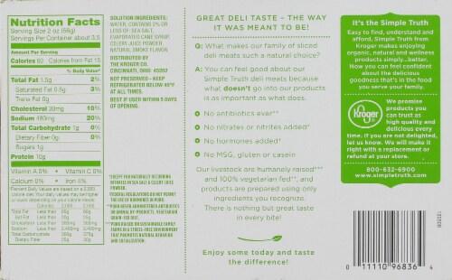 Simple Truth™ Uncured Black Forest Ham Slices Perspective: back