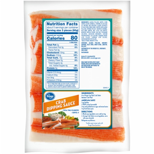 Kroger® Crab Select Leg Style Imitation Crab Meat Perspective: back