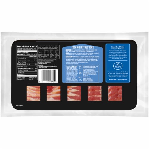 Kroger® Lower Sodium Naturally Hardwood Smoked Bacon Perspective: back