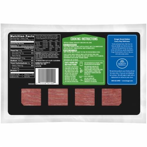 Kroger® Turkey Bacon Perspective: back