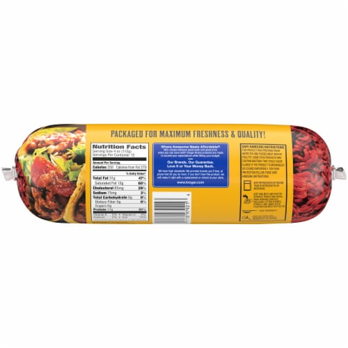 Kroger® 73% Lean Ground Beef Perspective: back