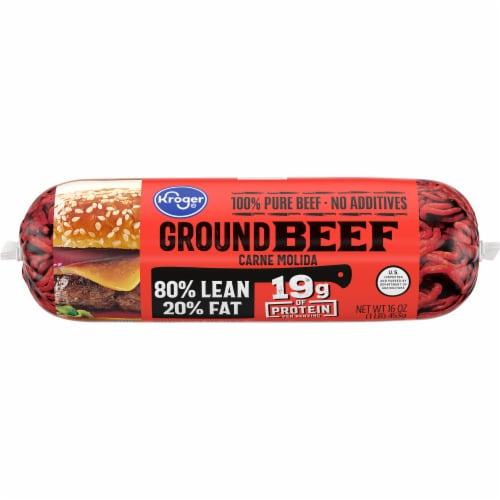 Kroger® 80% Lean Ground Beef Perspective: back