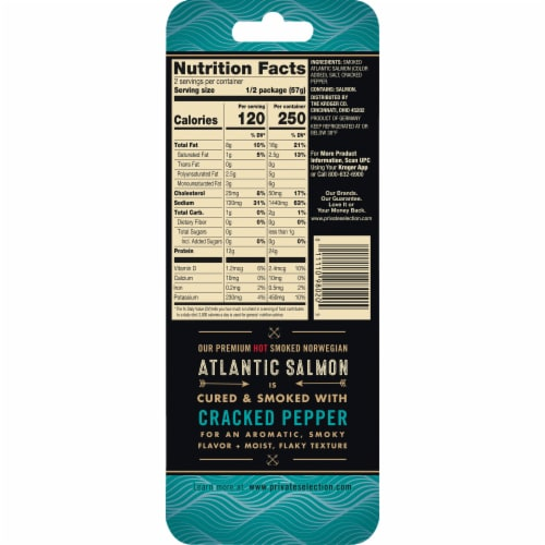 Private Selection® Cracked Pepper Smoked Norwegian Atlantic Salmon Perspective: back