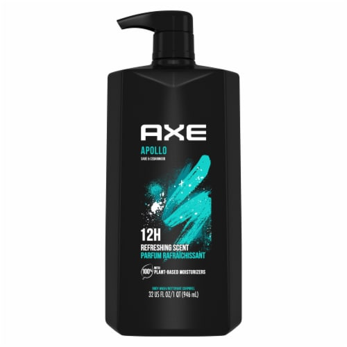 Axe Apollo Sage & Cedarwood Scent Clean + Fresh Body Wash Perspective: back