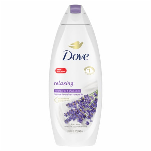 Dove Relaxing Lavender Body Wash Perspective: back