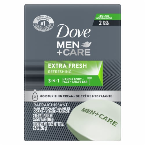 Dove Men+Care Extra Fresh Body & Face Bars Perspective: back