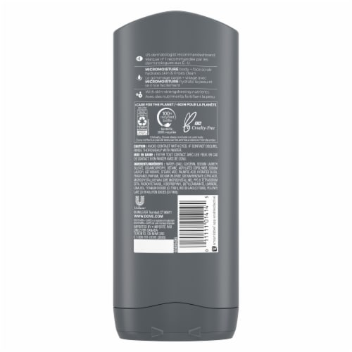 Dove Men+Care Deep Clean Body Wash Perspective: back