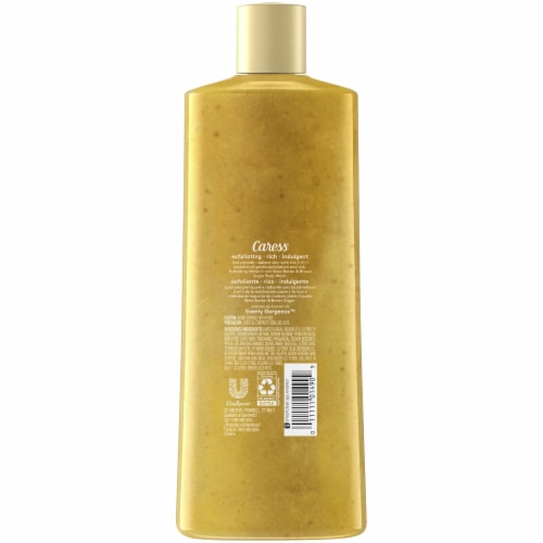 Caress Shea Butter & Brown Sugar Exfoliating Body Wash Perspective: back
