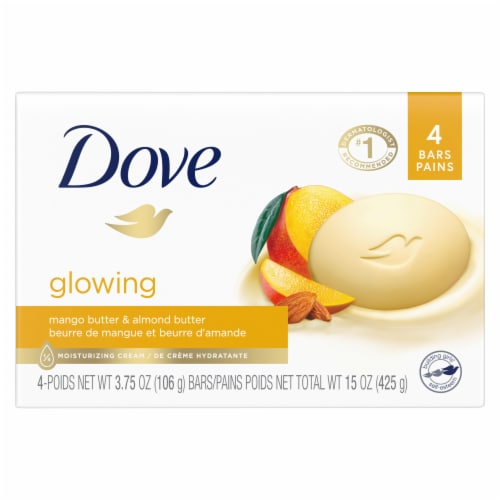 Dove Purely Pampering Mango Butter Beauty Bars 4 Count Perspective: back