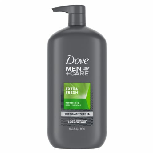 Dove Men+Care Extra Fresh Body Wash Perspective: back