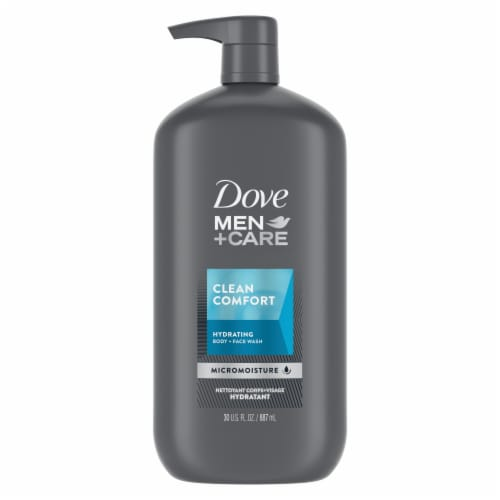 Dove Men+Care Clean Comfort Body Wash Perspective: back