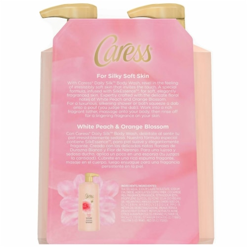 Caress Daily Silk Body Wash (25.4 Fluid Ounce, 2 Pack) Perspective: back