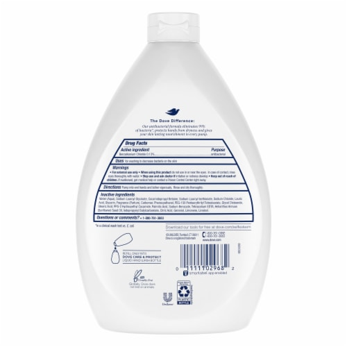 Dove Care & Protect Antibacterial Hand Wash Perspective: back